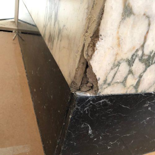 scheuren en gaten reparatie VOOR